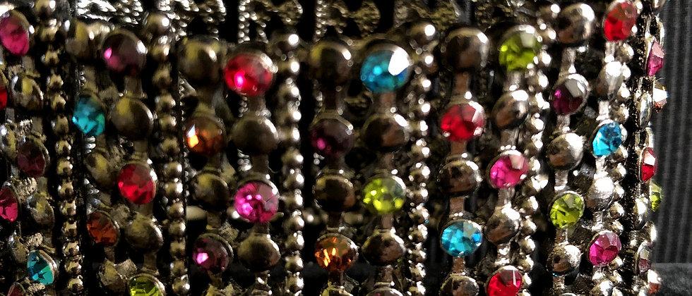Women's Statement Multi-Color Rhinestone Stretch Paved Crystal Bracelet