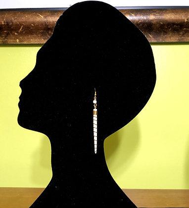 Ivory Flow Bone Spiral Earrings