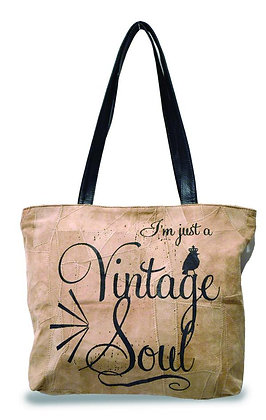 VINTAGE SOUL  RECYCLED LEATHER SMALL BAG