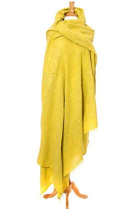 Lemon Handspun Cotton Heirloom Linen