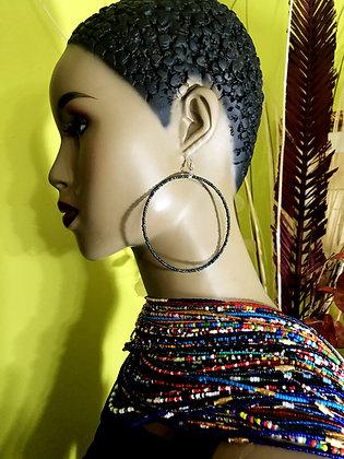 Metallic Beaded Earring Hoops