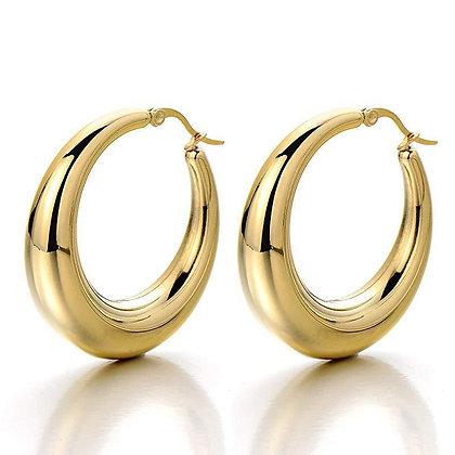 High Quality Stainless Steel Hoop Earrings