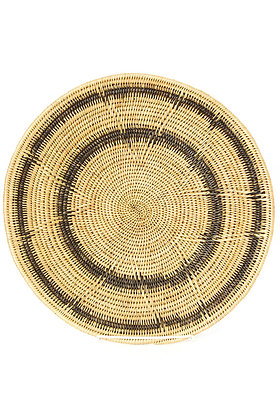 Makenge Root Wedding Baskets from Zambia - Black Rings