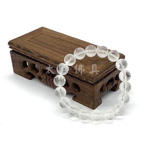 白水晶磨砂六字咒手珠