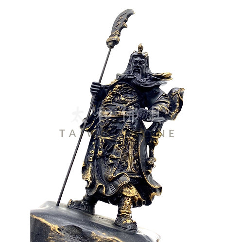 台灣黑石關公(刀上) 21cm