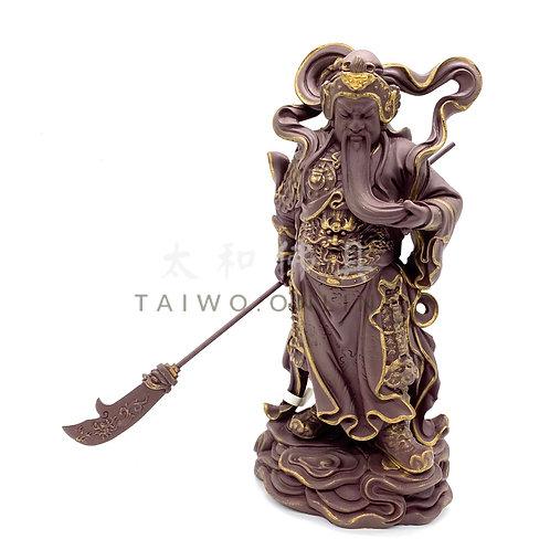 台灣冷瓷伽藍護法 21cm