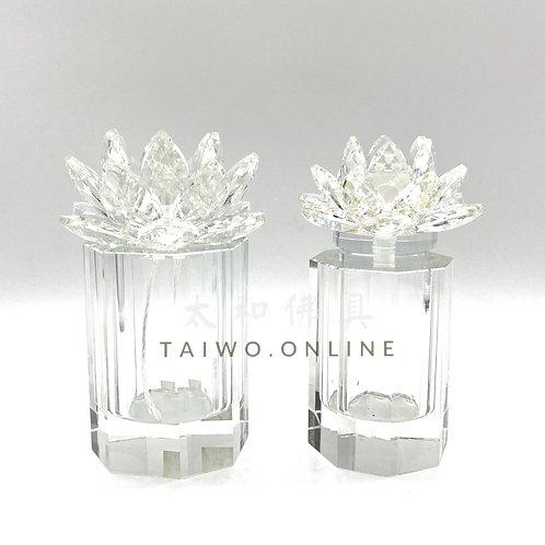 水晶蓮花油燈杯