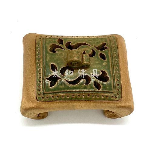 台灣手製方形檀香爐