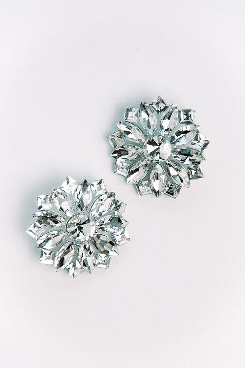 DAHLIA DIAMOND STATEMENT EARRINGS