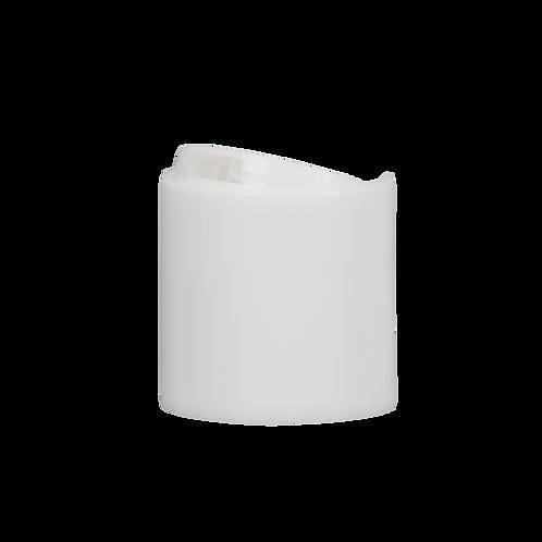 24/410 White Disc Cap