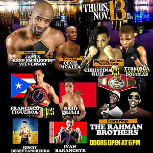 Fight card for the Baltimore Boxing Rena