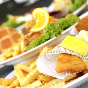 Fish'n'chips og burger