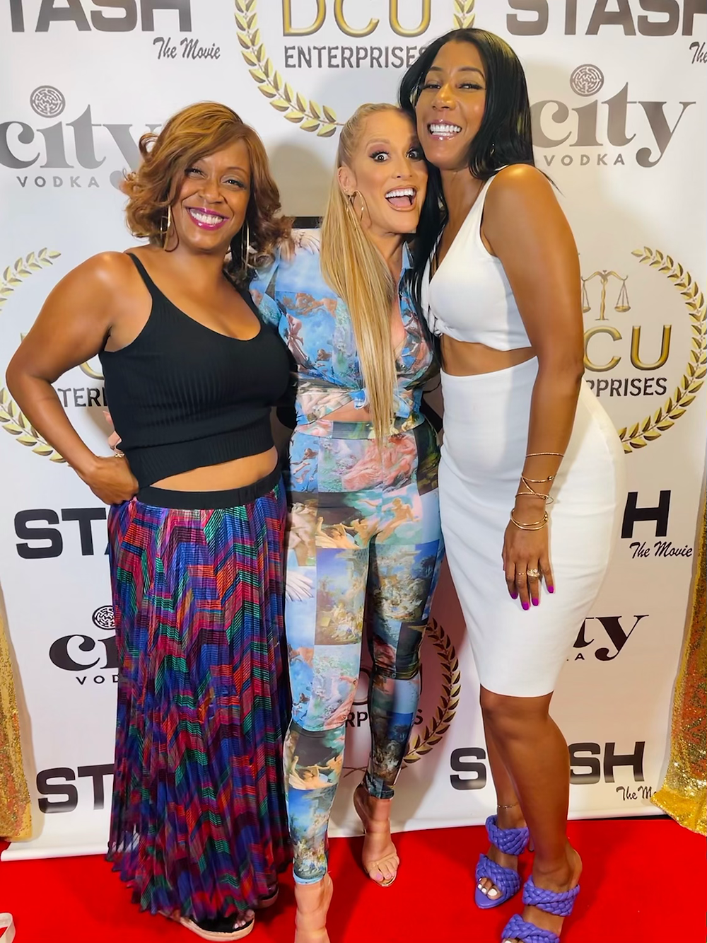 Photographer Lv Horton at the private screening of Stash the Movie with actress Nicole Katina and Noelene Moten