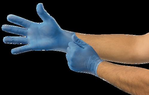 Microflex V29 Disposable Gloves, Vinyl, Powder Free, Blue, Medium, 100 per box