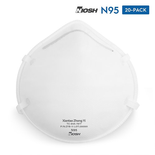 ZYB-11 N95 NIOSH Respirator Cup Style Face Masks 20-Pack