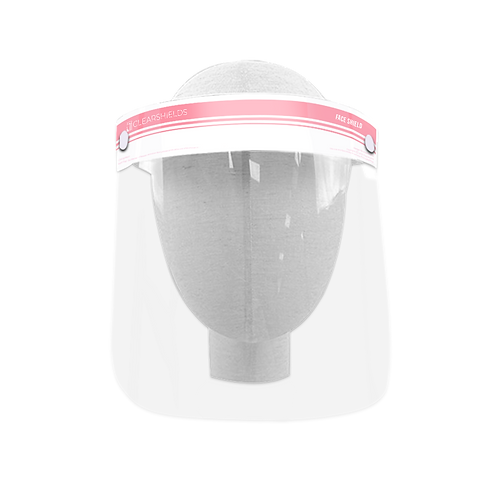 """Light Pink Clearshields Anti-Fog 13""""x 8.6"""" Face Shield Droplets Protection"""