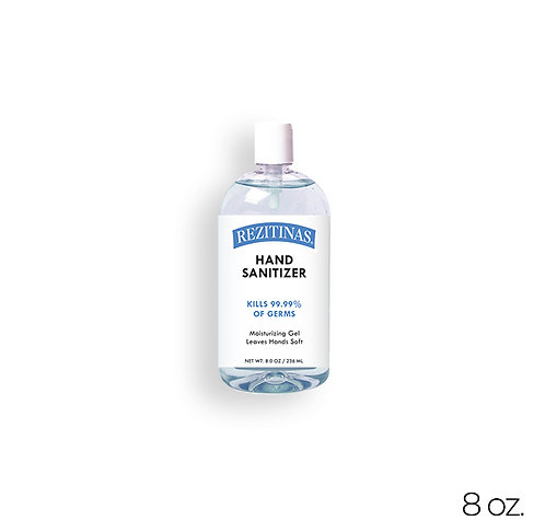 REZITINAS Hand Sanitizer with 70% Ethyl Alcohol 8 oz.