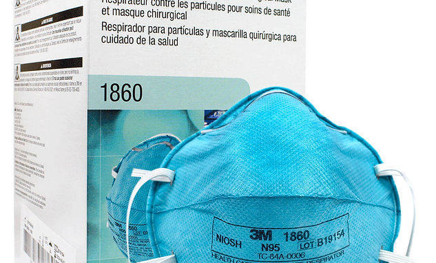 3M™ Health Care Particulate Respirator and Surgical N95 Mask 1860 Cup Style