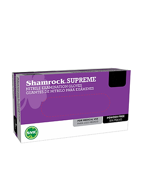 Shamrock Supreme Medical Nitrile Gloves 3.5 Mil Powder-Free Blue XL L M