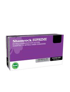 Shamrock Supreme Medical Nitrile Gloves 3.5 Mil Powder-Free Blue S M L XL