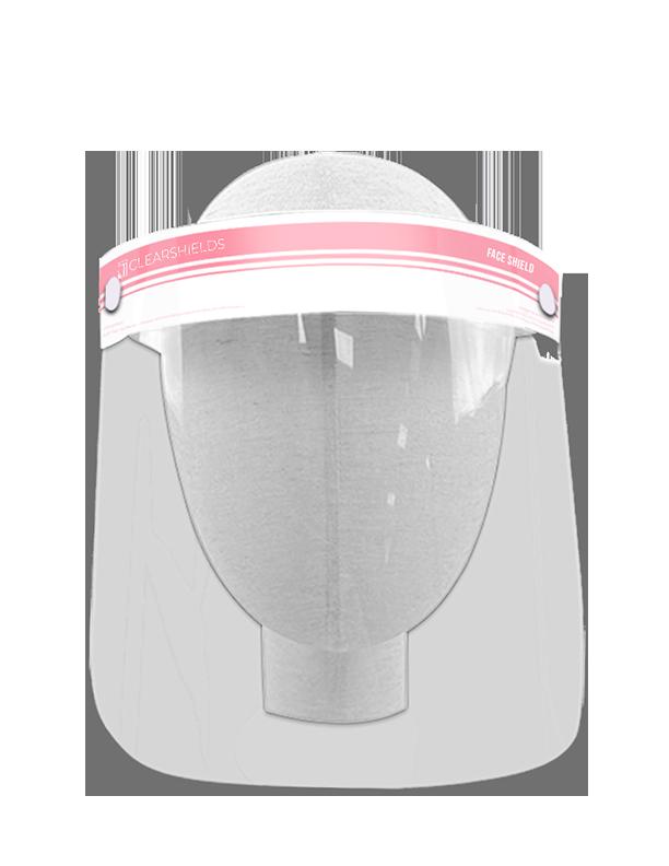 "Light Pink Clearshields Anti-Fog 13""x 8.6"" PET/PU"