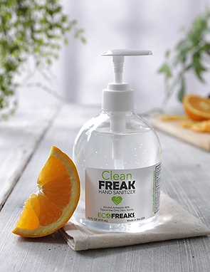 Clean Freak Hand Sanitizer Orange Scent 16 oz. comes in Pump, Flip or Screw Top