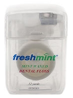 12 Yards Freshmint Mint Waxed Dental Flo