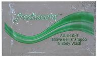 0.33 oz. Freshscent Shampoo, Shave Lotio