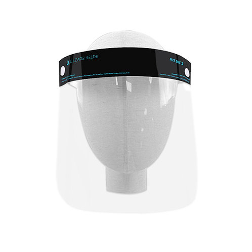 """Black Clearshields Anti-Fog 13""""x 8.6"""" Face Shield Droplets Protection"""
