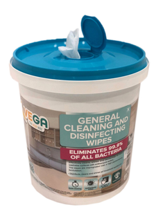 Vega Alcohol Disinfecting Wipes 7.1 x 7.1 in 400 wipes per bucket