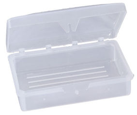 Hinged Soap Dish fits up to 3 oz bar (cl