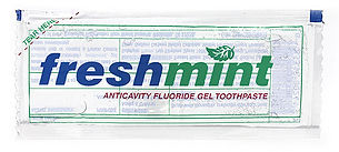 Single use Freshmint Clear Gel Toothpast