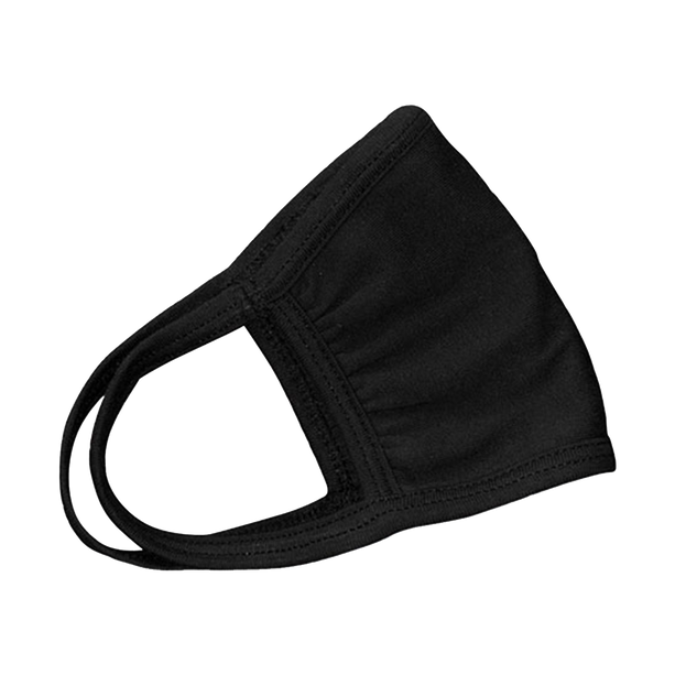 3 Ply Cotton Face Mask with Antimicrobial Finish Black or White 10 pcs. per pack
