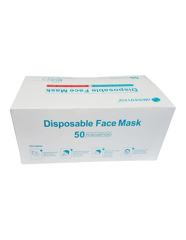 Aleen 3 Ply Disposable Medical Face Mask 50 pieces per box