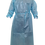 Thumbnail: Non Woven Blue Isolation Gown with PE Coating AAMI Level 2 PP+PE 50 GSM