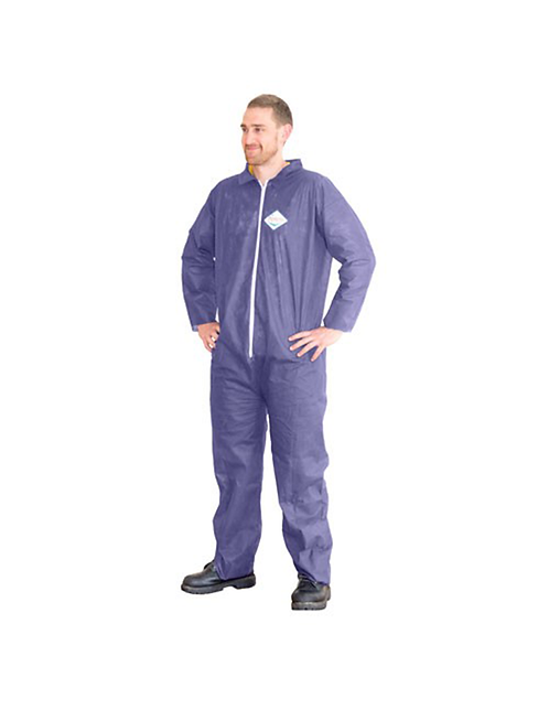 ProWorks® Light Duty PP Coveralls Blue Open Wrist & Ankle 25 pcs/case