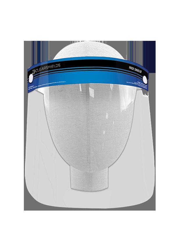 "Navy Blue Clearshields Anti-Fog 13"" x 8.6"" PET/PU"