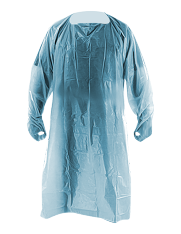 CPE Blue Disposable Isolation Gown AAMI Level 3, 30 GSM Unisex XL