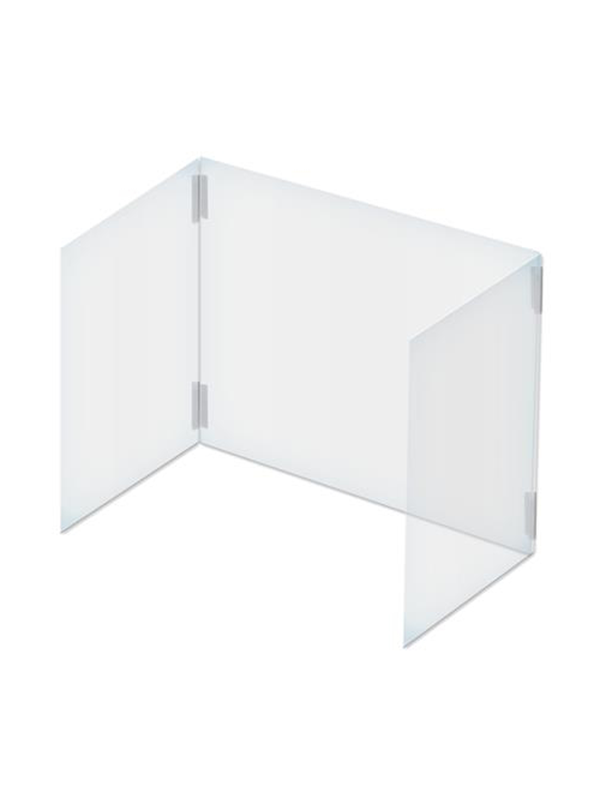 Customizable Sneeze Guard Foldable 3-Panel Clear Desk Shield