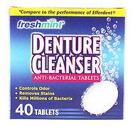 Freshmint Boxed Denture Cleanser Tablets
