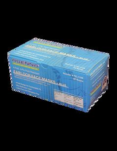 Adenna® Earloop 3 Ply 4 Fold Design Blue Face Masks 50 pieces per box