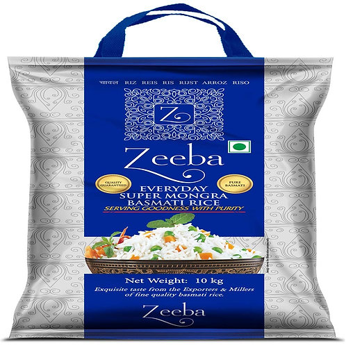 Zeeba Everyday Super Mongra Basmati Rice 10kg