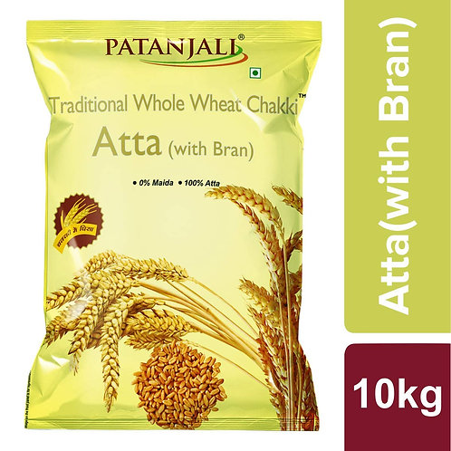 Patanjali Traditional Whole wheat Chakki Atta with Bran 10kg