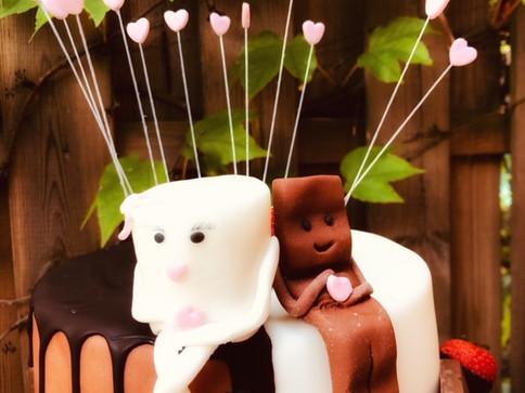 Milki & Schoki Hochzeitstorte