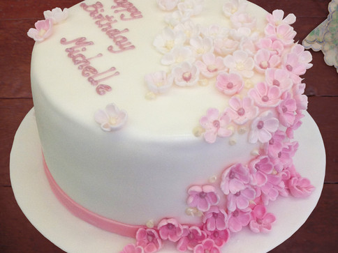 Geburtstagstorte für Michelle, rosé & we