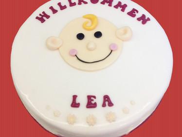 """Babytorte """"Willkommen Lea"""""""