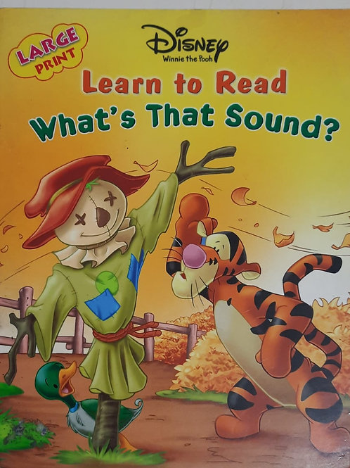 WhatsThat Sound? - storybook in large print