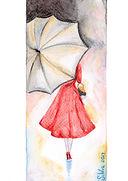 Woman watercolor card