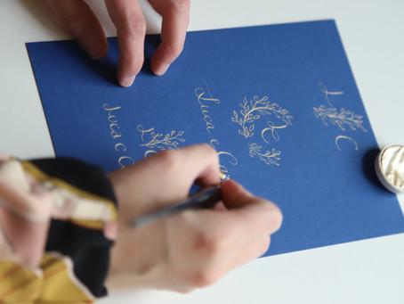 La calligrafia come decorazione per le Vostre partecipazioni