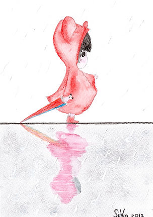 Little baby watercolor card